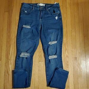 Garage premium high waist jeans distressed look